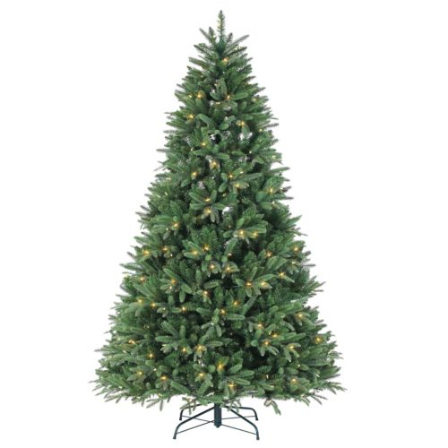 Sterling 7.5′ Natural Cut LED Color Changing Dakota Pine Artificial Christmas Tree