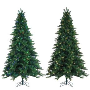 Sterling 7.5' LED Dual Function Oakland Spruce Artificial Christmas Tree