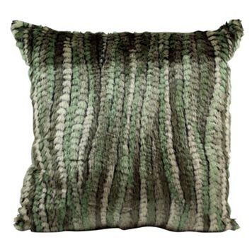 Mina Victory Faux Fur Abstract Throw Pillow