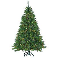 Sterling 6.5' Hard/Mixed Needle Wisconsin Spruce Multi-Colored Artificial Christmas Tree