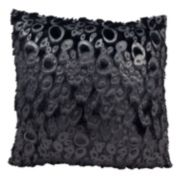 Mina Victory Black Faux-Fur Abstract Throw Pillow