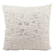 Mina Victory Sequin Faux-Fur Throw Pillow