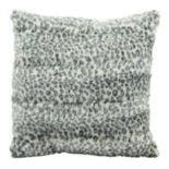 Mina Victory Faux Fur Animal Print 18'' x 18'' Throw Pillow