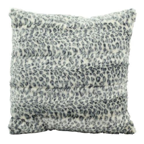 "Mina Victory Faux Fur Animal Print 18"" x 18"" Throw Pillow"