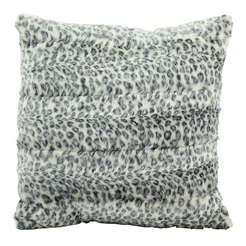 Mina Victory Faux Fur Animal Print 18'' x 18'' Throw Pillow