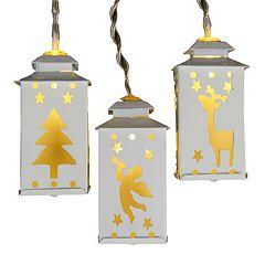 Kurt Adler Battery-Operated LED Miniature Lantern Light Set