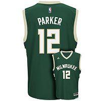 adidas Men's Milwaukee Bucks Jabari Parker Replica Jersey