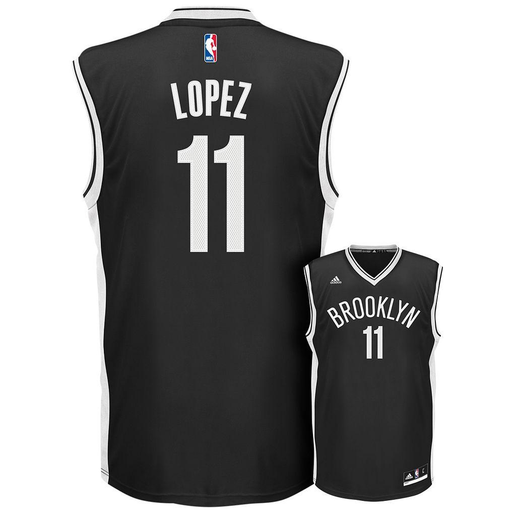 adidas Men's Brooklyn Nets Brook Lopez Replica Jersey