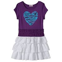 Design 365 Toddler Girl Sequin Heart Dress