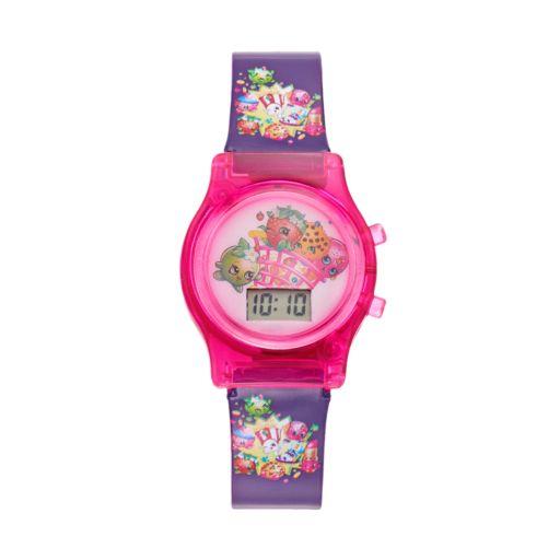 Shopkins Strawberry Kiss, D'Lish Donut, Kooky Cookie & Apple Blossom Girls' Digital Light-Up Watch