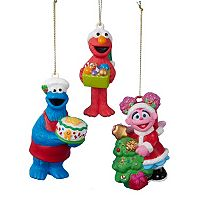 Sesame Street 3-Piece Ornament Set