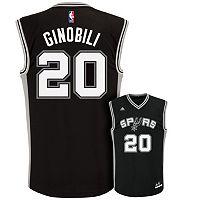 Men's adidas San Antonio Spurs Manu Ginobili Replica Jersey