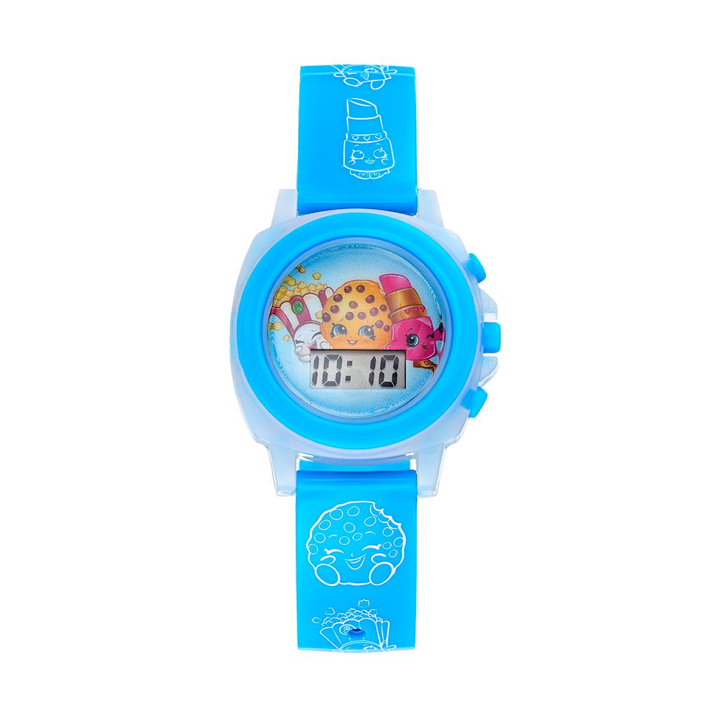 Shopkins Kooky Cookie, Poppy Corn & Lippy Lips Girls' Digital Light-Up Watch