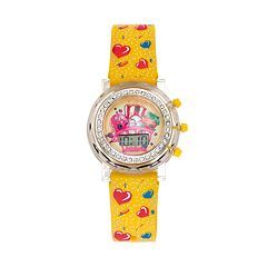 Shopkins Strawberry Kiss, D'Lish Donut & Poppy Corn Girls' Digital Light-Up Watch