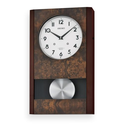 Seiko Wood Musical Pendulum Wall Clock - QXM359BLH