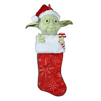 Star Wars Yoda Candy Cane 22-in. Plush Stocking