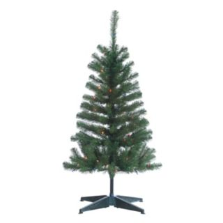 Sterling 4' Cumberland Pine Multi-Colored Artificial Christmas Tree