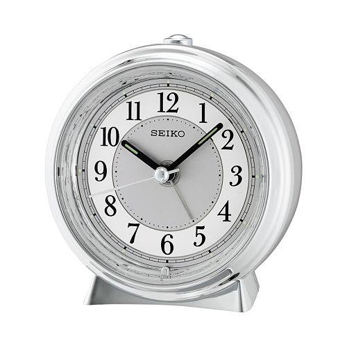 Seiko Metallic Bedside Alarm Clock
