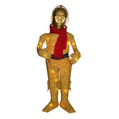 Star Wars C3PO 28-in. Light-Up Indoor / Outdoor Tinsel Decor