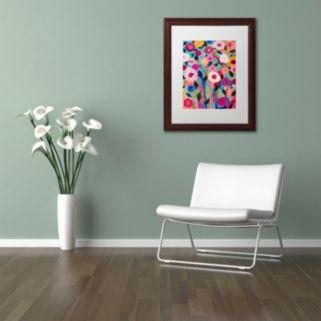 Trademark Fine Art ''Autumn Splendor'' Matted Wooden Framed Canvas Wall Art