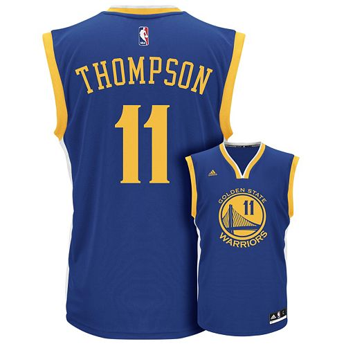 finest selection 72751 ee3e2 Men's adidas Golden State Warriors Klay Thompson Replica ...