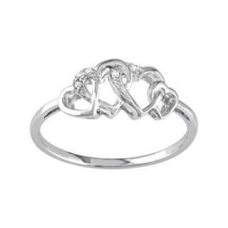Stella Grace Diamond Accent 10k White Gold Heart Ring