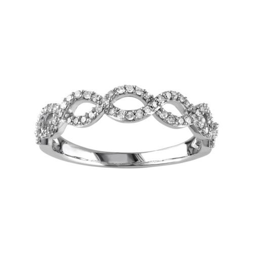 1/4 Carat T.W. Diamond 14k White Gold Infinity Ring