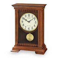 Seiko Wooden Pendulum Mantel Clock - QXQ029BLH