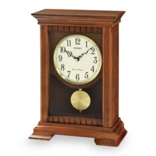 Seiko Traditional Classics Wood Musical Pendulum Mantel Clock - QXQ029BLH
