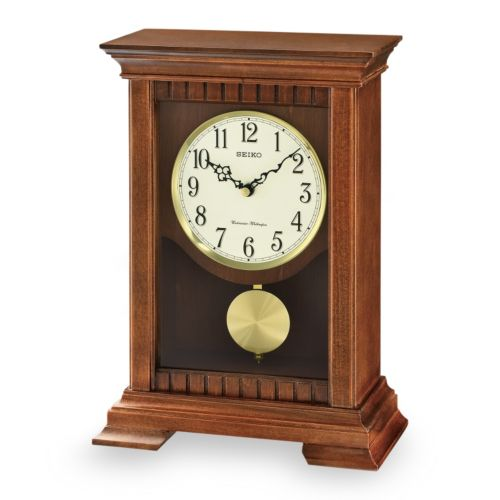 Seiko Traditional Classics Wood Musical Pendulum Mantel Clock - QXQ029BLH