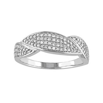 1/3 Carat T.W. Diamond 10k White Gold Marquise Ring