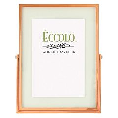 World Traveler Floating Glass Copper Frame