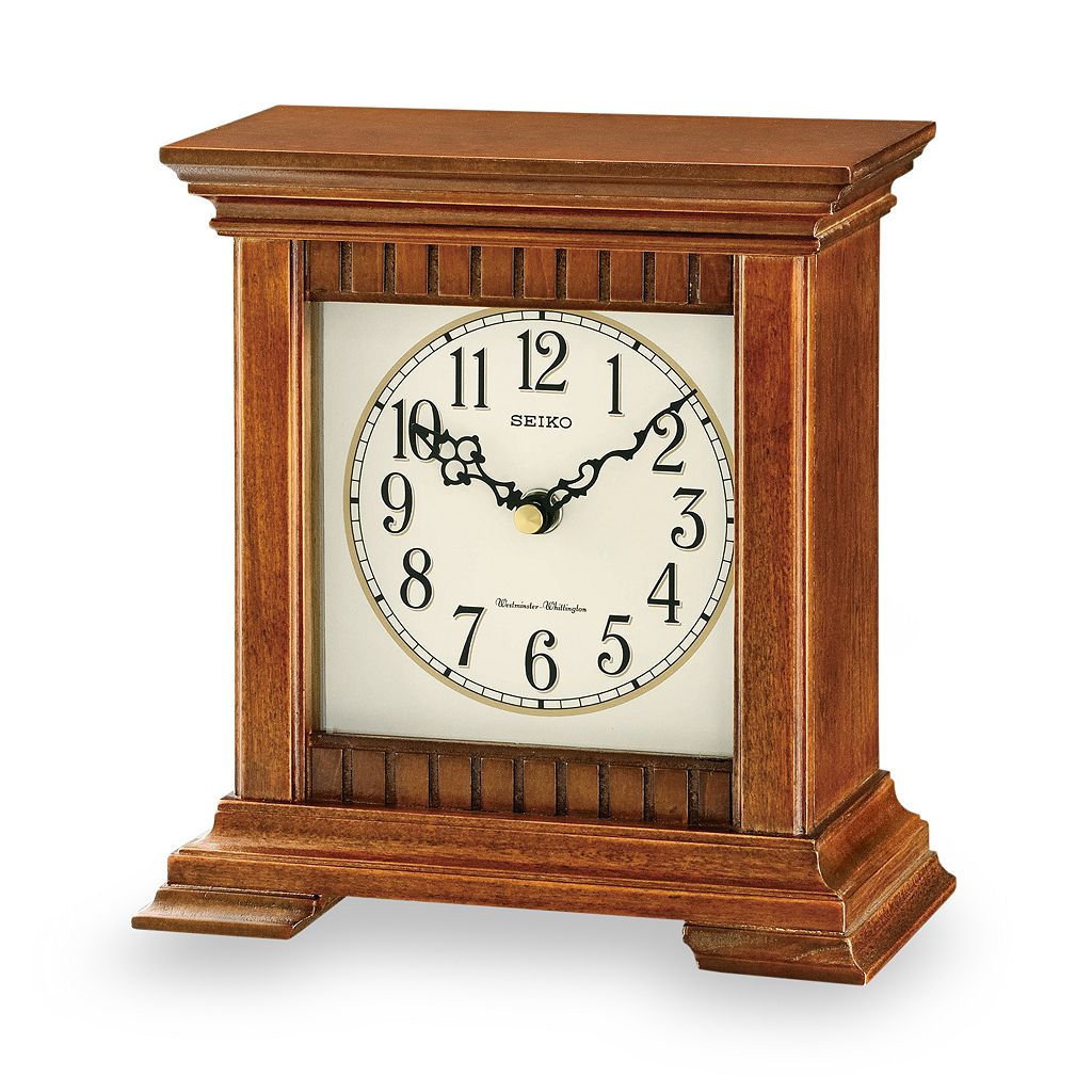 Seiko Traditional Classics Wood Musical Table Clock - QXJ028BLH