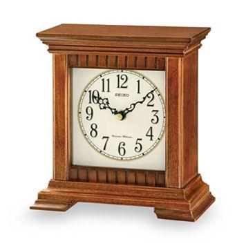 Seiko Traditional Classics Wood Musical Table Clock - QXJ028BLH