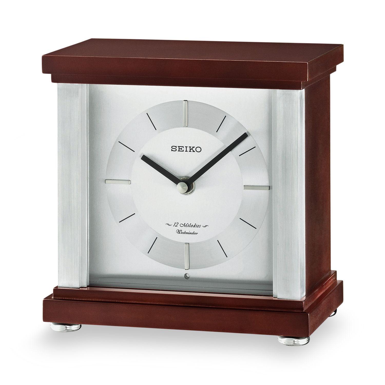 Seiko Contemporary Classics Wood Musical Table Clock   QXW441BLH