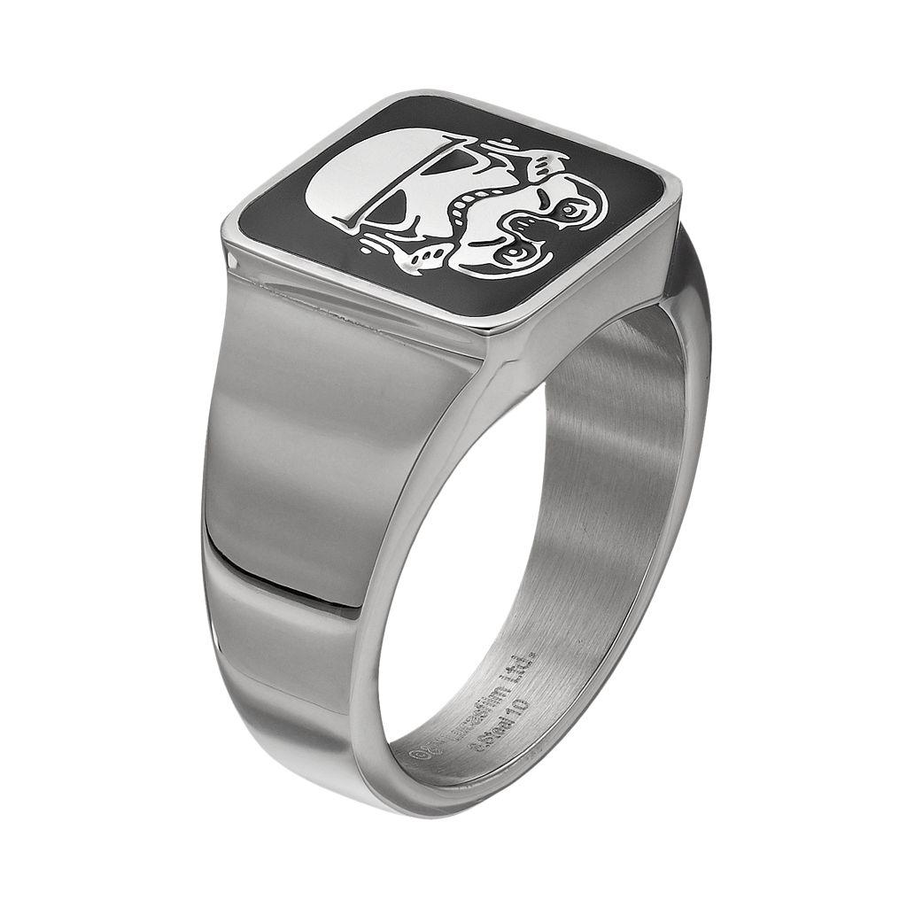 Star Wars Men's Stormtrooper Stainless Steel Ring