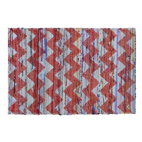 Simple by Design Chevron Chindi Reversible Rug