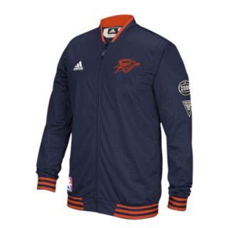 Men's adidas Oklahoma City Thunder On-Court Warm Up Jacket