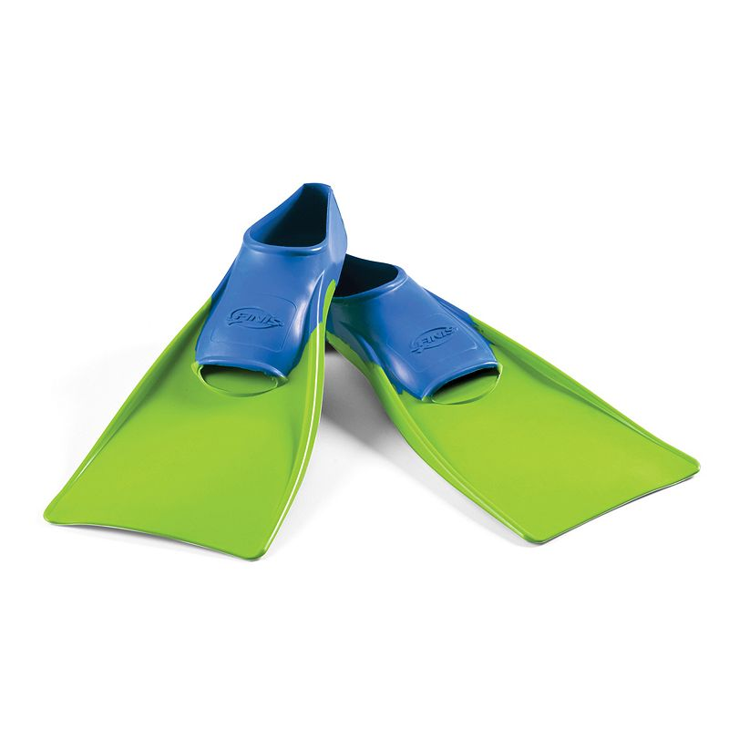 Kids Size 8-11 Finis Green Long Floating Swim Fins, Multicolor