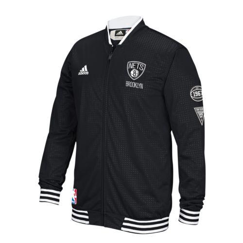 Men's adidas Brooklyn Nets On-Court Warm Up Jacket