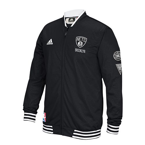 Men's adidas Brooklyn Nets On-Court Warm Up Jacket