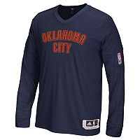 Men's adidas Oklahoma City Thunder On Court Long-Sleeve Tee