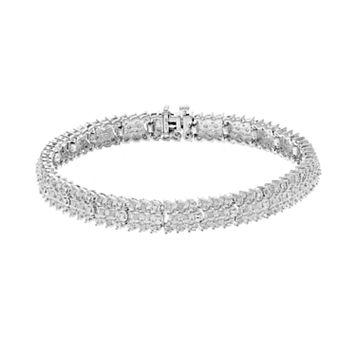 1 Carat T.W. Diamond Sterling Silver Bracelet