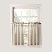 SONOMA Goods for Life™ Ayden Linen Blend Tier Curtain Pair