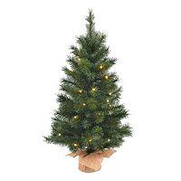 Pre-Lit Green Pine 3-ft. Artificial Tree