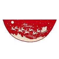 48-Inch Reindeer & Santa Tree Skirt