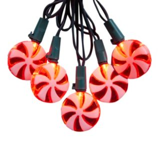 20-Light Peppermint Candy LED String Lights