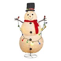 48-Inch Lighted Collapsible Snowman