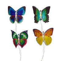 10-Light Fiber Optic Butterfly String Lights
