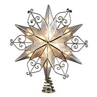 9-Inch Capiz Scroll Star Tree Topper